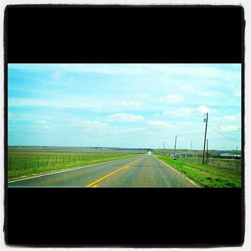 Texas open road I <3 you.