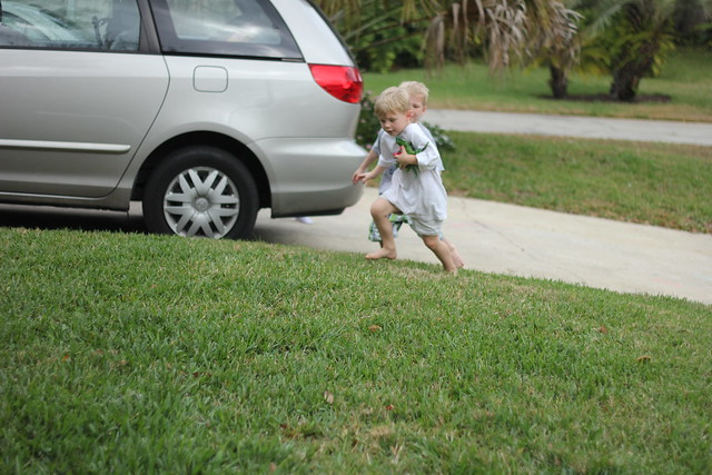 Playing in the Front Yard