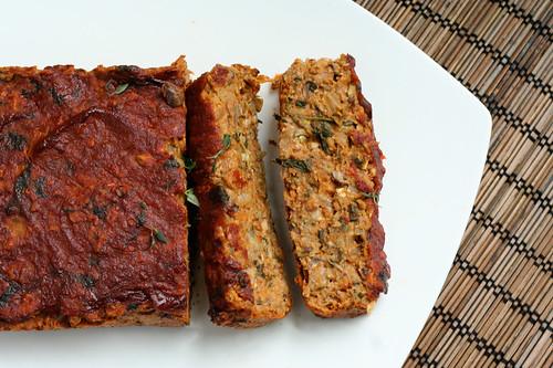 """Gluten-free + Vegan Lentil """"Meat"""" Loaf"""