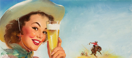GIL_ELVGREN_American_1914-1980_._Shiner_Texas_Special_beer_ad_illustration_1953