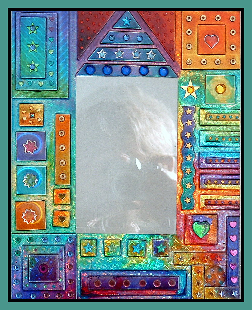 glass painted picture frame