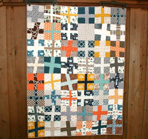 Happy Camper Wonky Cross Quilt