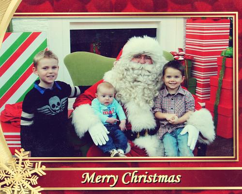 Christmas on Santa's lap 2011