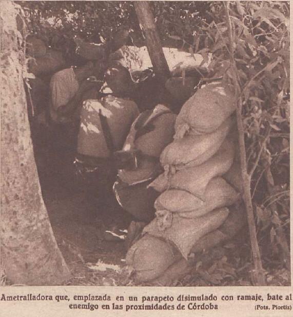 Tropas leales en el frente de Córdoba