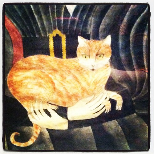 Folk art cat