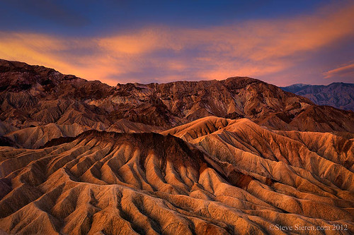Death Valley Zabriskie Point Badlands