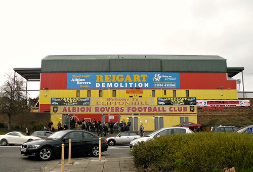 View of Cliftonhill Stadium, Coatbridge from Main Street 2