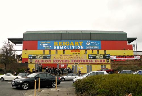 View of Cliftonhill Stadium, Coatbridge from Main Street 2
