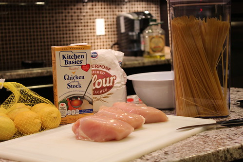 Preparing Easy Chicken Pasta Recipe Ingredients