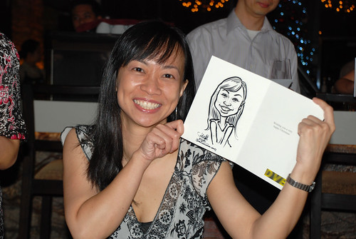 caricature live sketching for DVB Christmas party - 3
