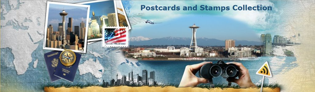 Postcards and Stamps Collection