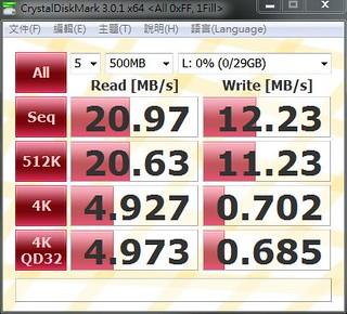 Samsung MircoSD CLASS10 32GB 測試