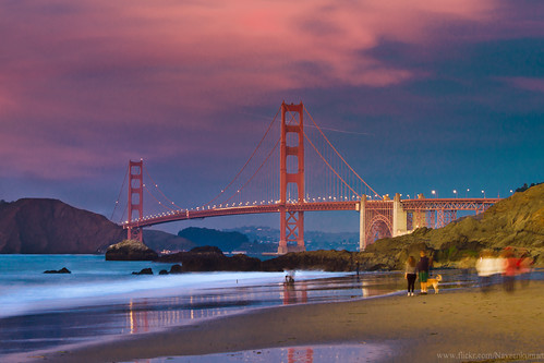california nightphotography red sea usa seascape reflections photography golden rust gate sfo goldengatebridge goldengate westcoast seashore seacoast thota sanfancisco kumar naveen sunsetcolors sanfranciscobakerbeach