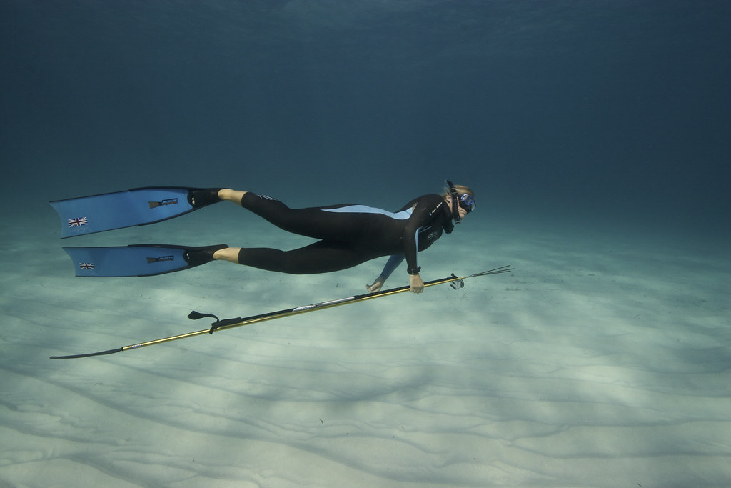 georgina spearfishing the endless desert