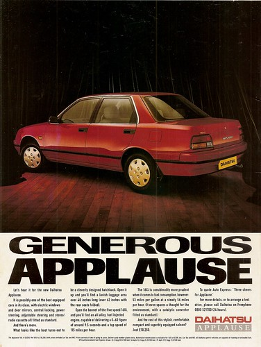 Daihatsu Applause Advert 1990