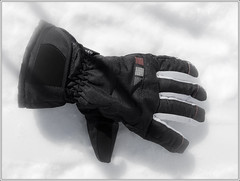 black, glove,