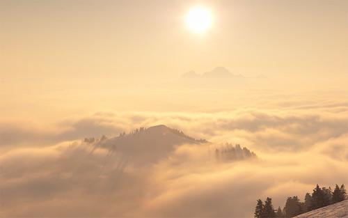 [フリー画像素材] 自然風景, 山, 雲 ID:201203060800