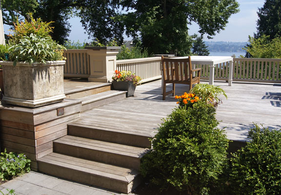 Cedar decking adds warmth to the generous proportions of this spacious home.