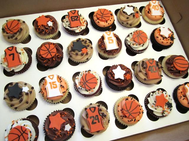 Basketball cupcakes flickr photo sharing