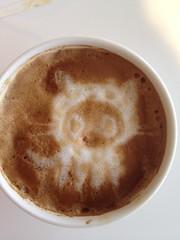 Today's latte, Snow Octocat.