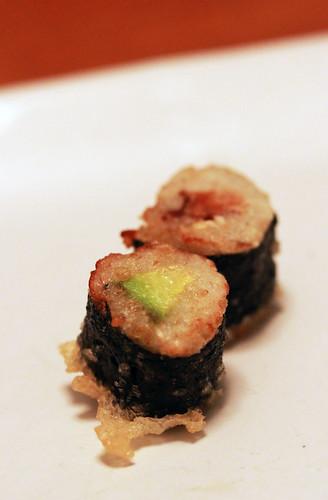 tempura vegan sushis!