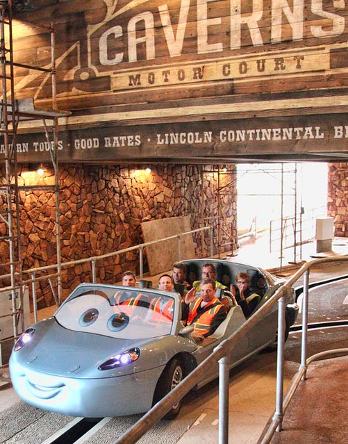 Tom Staggs & Bob Iger Radiator Springs Racers