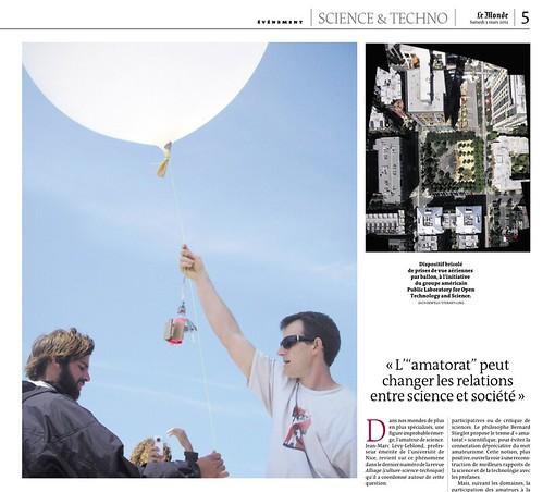 Le Monde on Public Lab