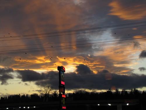 stunning sunset (through the power lines)