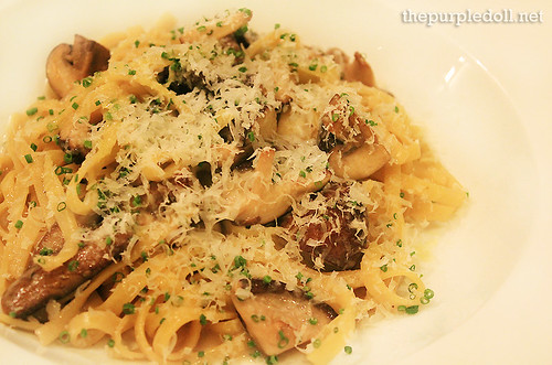Funghi Pasta Ala Chitarra Appetizer P375 Entree P490