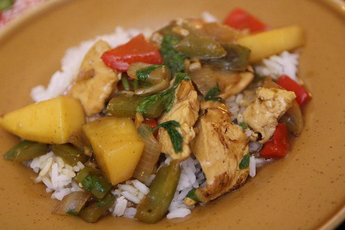 Malaysian Curried Chicken with Mango