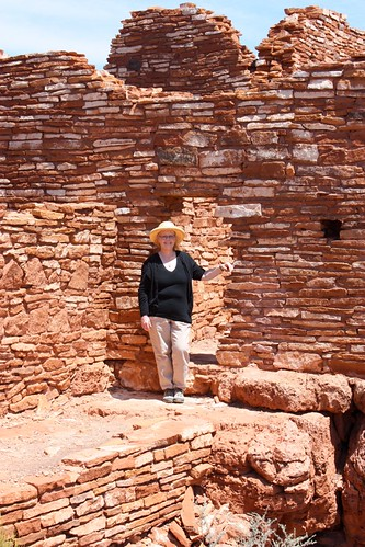 Lisa at Lomaki Ruins