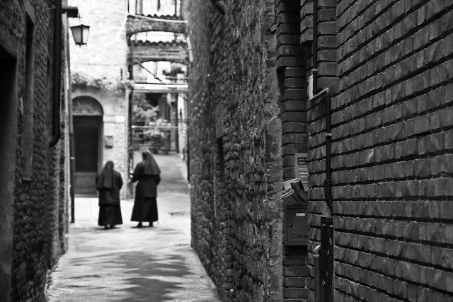 Nuns Walking - Umbria, Italy
