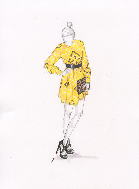 Lauren Friedman Drawing at It's Vintage Darling