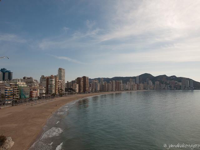 Vista de la Playa de Levante desde el Mirador.