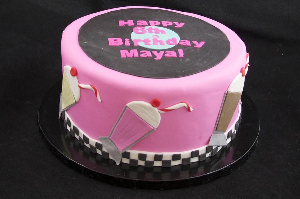 50s Themed Birthday Cake