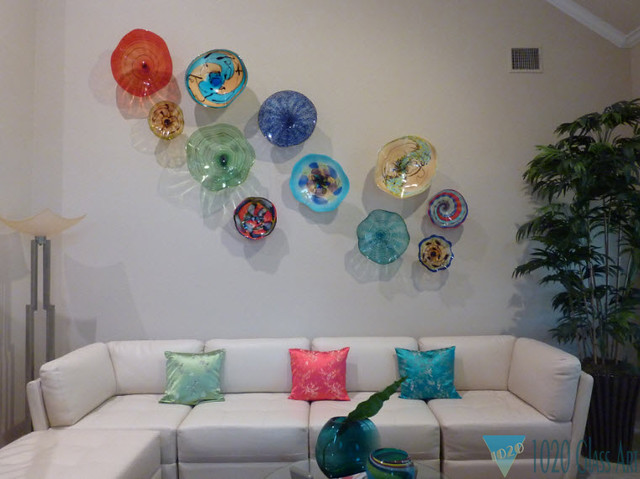 Wall Decor Glass Plates : Wall art glass installation euless tx flickr photo