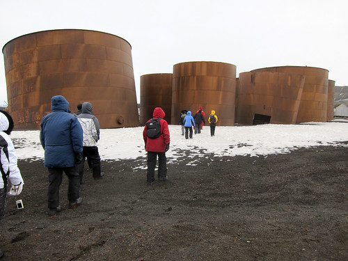 Antarctica - old Norwegian whale oil station