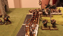 Turn 4a.1 - Dwarves - Both units of hammerers charge the Ogre General's unit