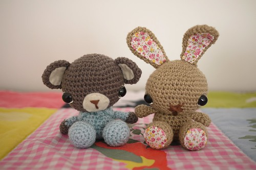Crochet Bunny and bear