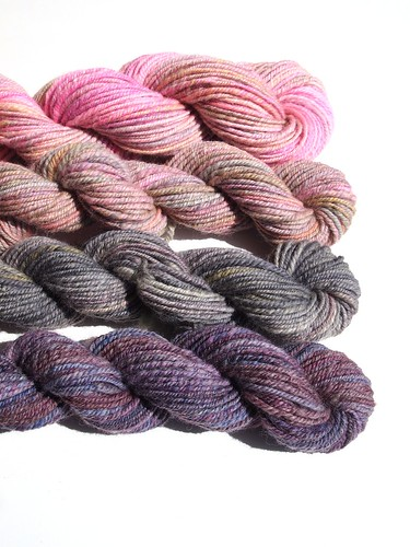 FCKFiber Club Famous Couples Spring 2012-March-Sid & Nancy-Polwarth-hand carded, chain plied-3 (2)