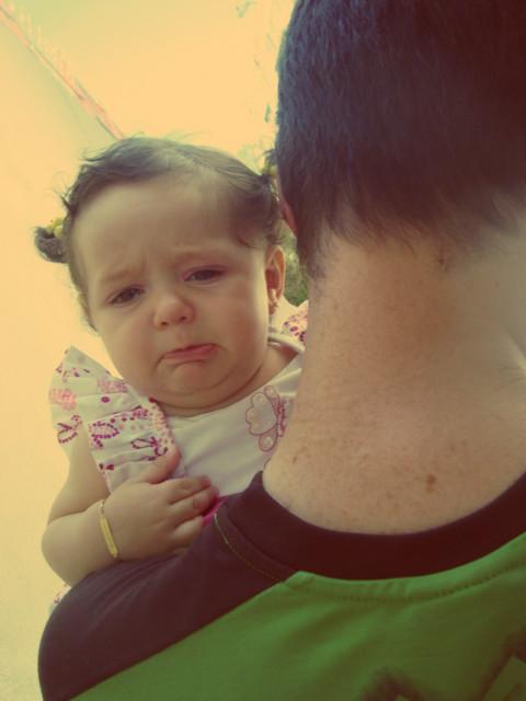 Biquinho pra chorar...papai malvado!!!Levou ela embora...