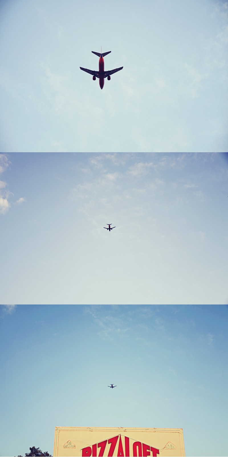 airplane triptych
