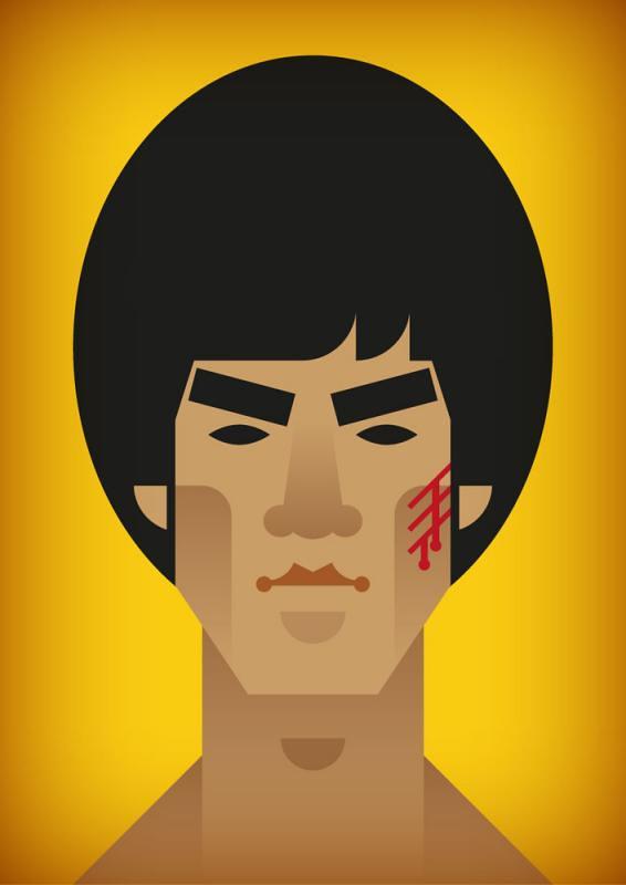 Face da Cultura Pop por Stanley Chow - Bruce Lee
