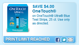 Onetouch Ultra Blue Test Strips, 25 Ct. Use Only As Directed.  Coupon