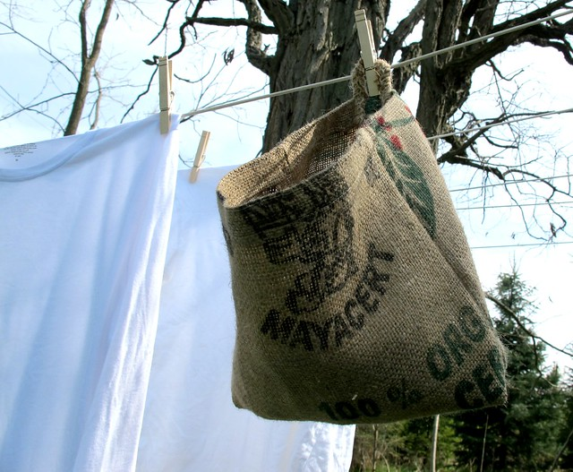 burlap peg bag diy