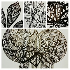 Some of today's #patterns #illustration #art #pen #hyperpattern#leaf