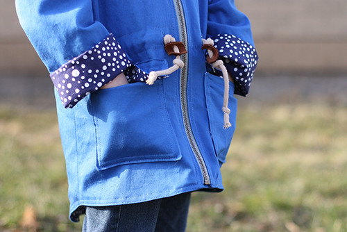 spring showers jacket in blue