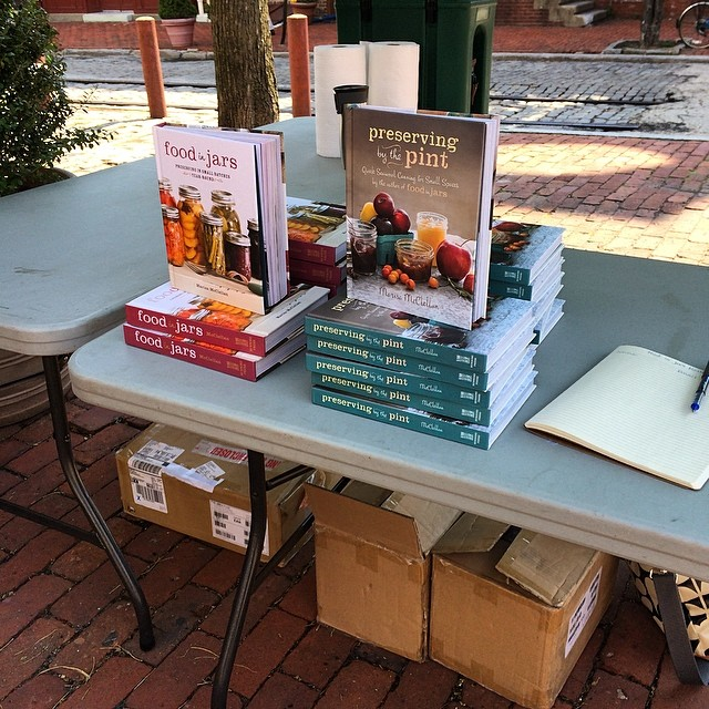 All set up at the opening day of the Headhouse Square Farmers Market. I'm here until 2 pm!