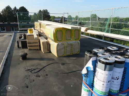 Material auf dem Dach