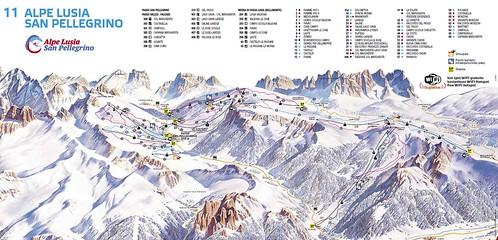 Tre Valli - mapa sjezdovek